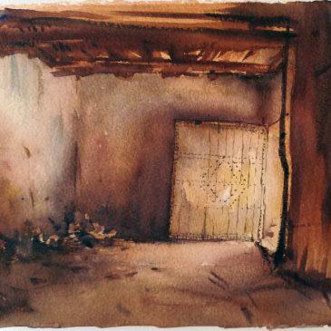 Watercolour Ait ben Haddou
