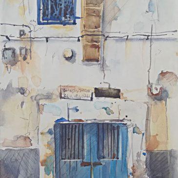 Watercolour Callejon Essaouira