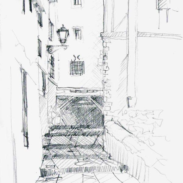 Passageway between houses in Cuenca