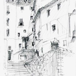 Drawing of Cuenca