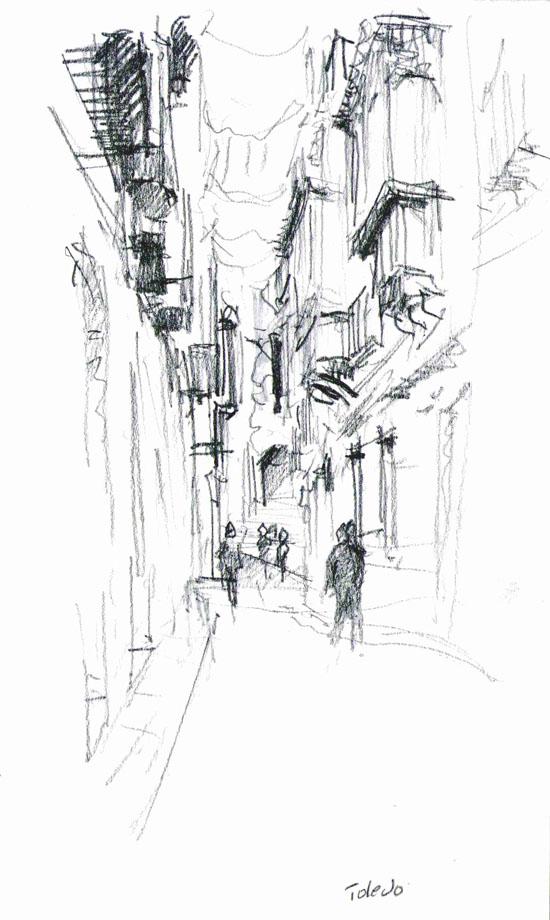 Narrow street, Toledo