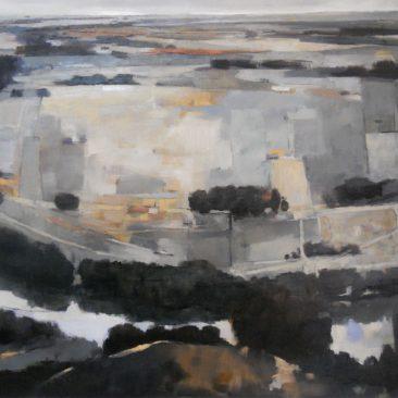 Landscape painting, oil